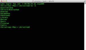 Ordner / Dateien in der Terminal App am Mac anzeigen