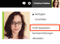 Profilbild hochladen bei Office 365 von Microsoft