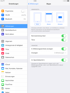 Push Benachrichtigungen in iOS deaktivieren