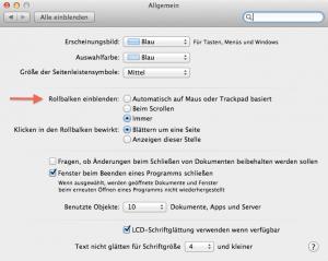 Scrollen am Mac