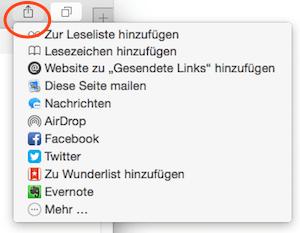 Freigaben mit Safari unter Mac OS X
