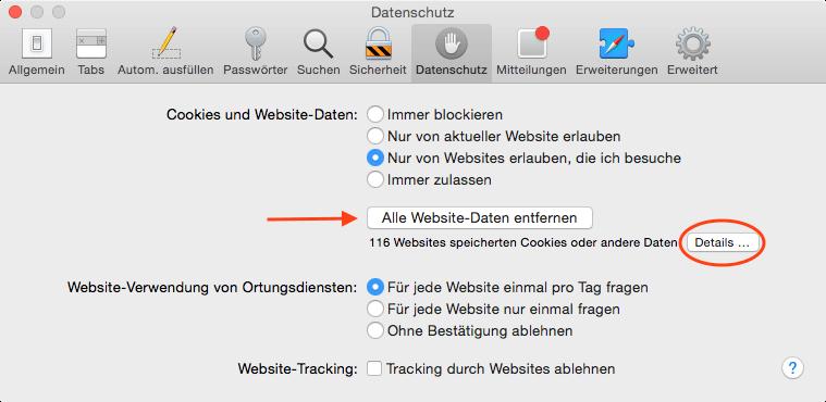 Sicher surfen mit Safari: Daten im Browser löschen