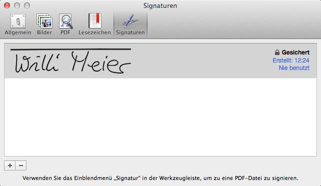 Signatur Am Mac Erstellen