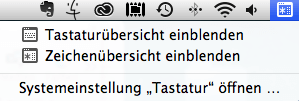 Sonderzeichen und Tastaturübersicht am Mac einblenden