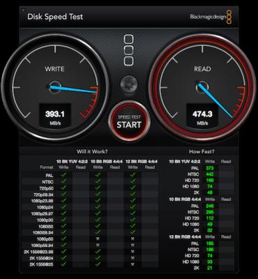 Software für Lese & Schreibgeschwindigkeit der Mac Festplatte