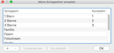 Sternchen für Fotos vergeben in Apples App Fotos für Mac OS X