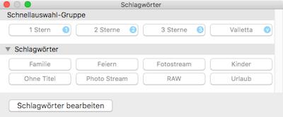 Bilder mit Sternen bewerten auch in neuer Fotos App für Mac OS X El Capitan