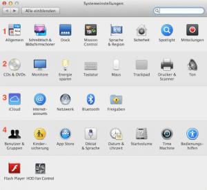 So sehen die Systemeinstellungen am Mac aus.