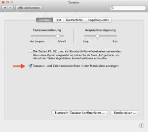 So kann man sich am Mac seine Tastatur einblenden lassen