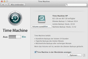 Wie man am Mac zum ersten Mal ein Backup mit Time Machine einrichtet