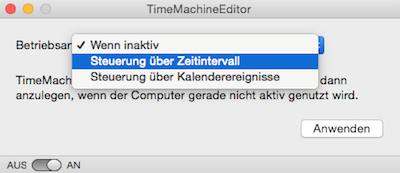 Time Machine Editor am Mac einrichten