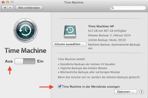 Wie man mit Time Machine am Mac manuelle Backups erstellt