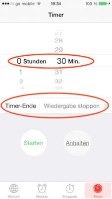 Schlummer-Funktion unter iOS einstellen