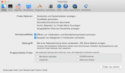 Mit TinkerTool die Systemeinstellungen am Mac erweitern