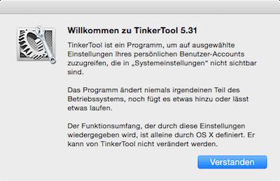 Tinkertool für Mac Info