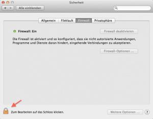 Statt Antivirenschutz die Firewall am Mac aktivieren