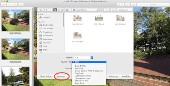 Bilder unter Mac OS X Yosemite oder El capitan in anderes Format exportieren