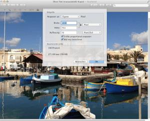 Anleitung wie man am Mac Bilder schnell verkleinern kann