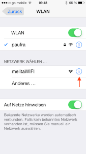 WLAN Verbindungen am iPhone entfernen
