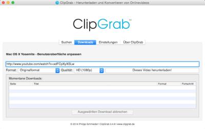 Videos herunterladen und speichern unter Mac OS X