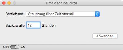 Zeitintervall für Time Machine Backup am Mac einstellen